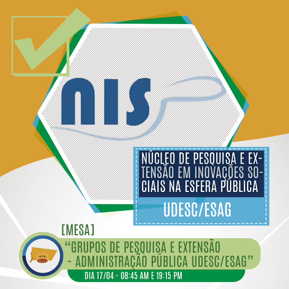 Presentation of NISP in the 3rd Academic Week Of Public Administration Of UDESC